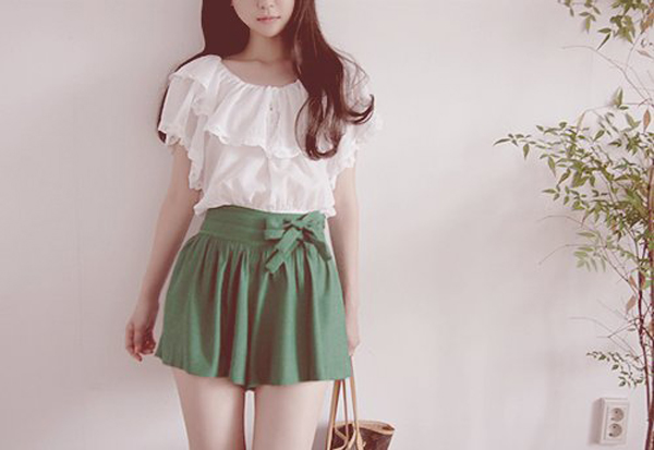 Image of: Japanese Cutekoreanblousewithminidress Kooding Cutekoreanblousewithminidress Fashionlookstylecom