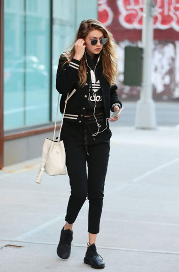 35 best gigi hadid street style with casual looks inspiration your. Black Bedroom Furniture Sets. Home Design Ideas