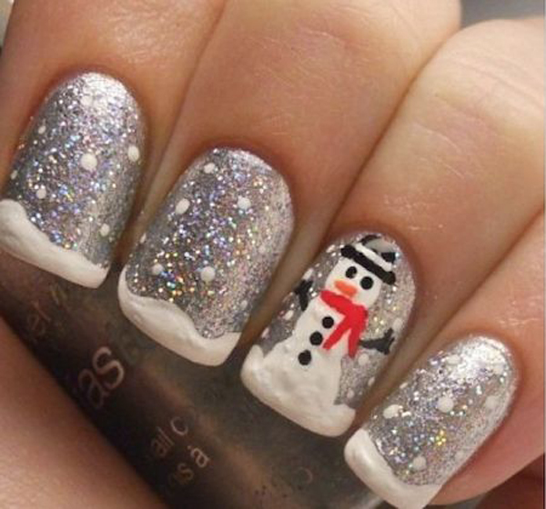 Top 20 Christmas Nail Art With Sparkle Ideas