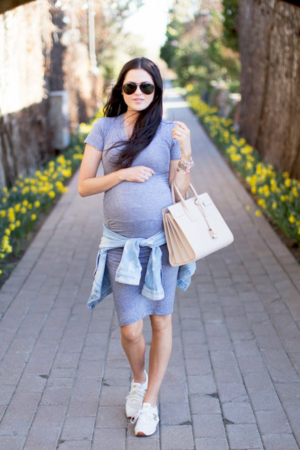 30 Cool And Fashionable Maternity Street Styles