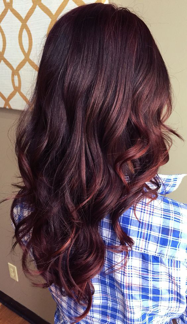 Fashion 2017 colors - Casual Red Balayage Hair Colors