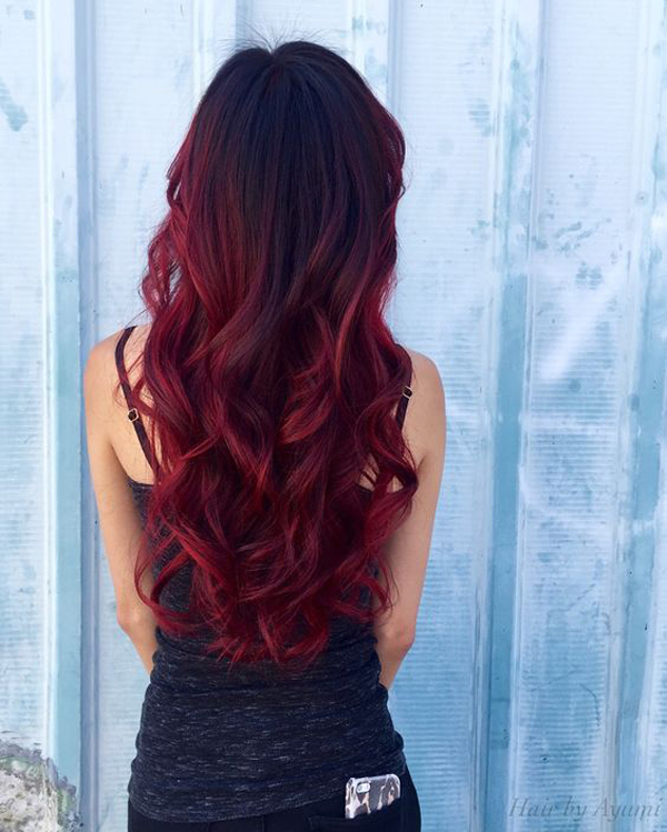 Cute Balayage Red Ombre Hair Color Fashionlookstyle Com