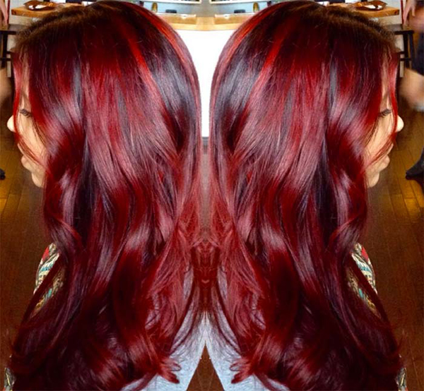 25 red balayage hair colors for trends 2017