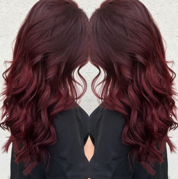 wavy-dark-balayage-red-hairstyle-color