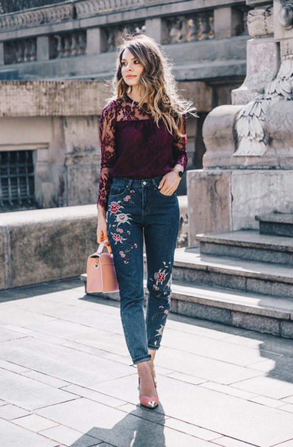 20 Cool Ways To Mix And Match Embroidered Jeans
