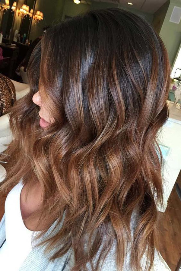Balayage Hair Ideas In Brown And Caramel Colors