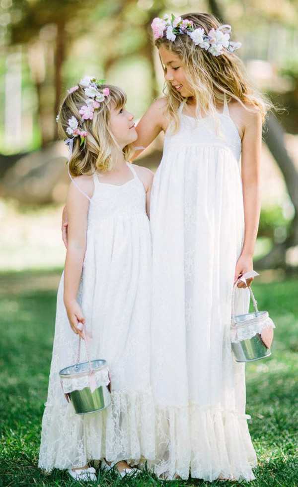20 Boho Chic Wedding Styles For Little Girl Dresses