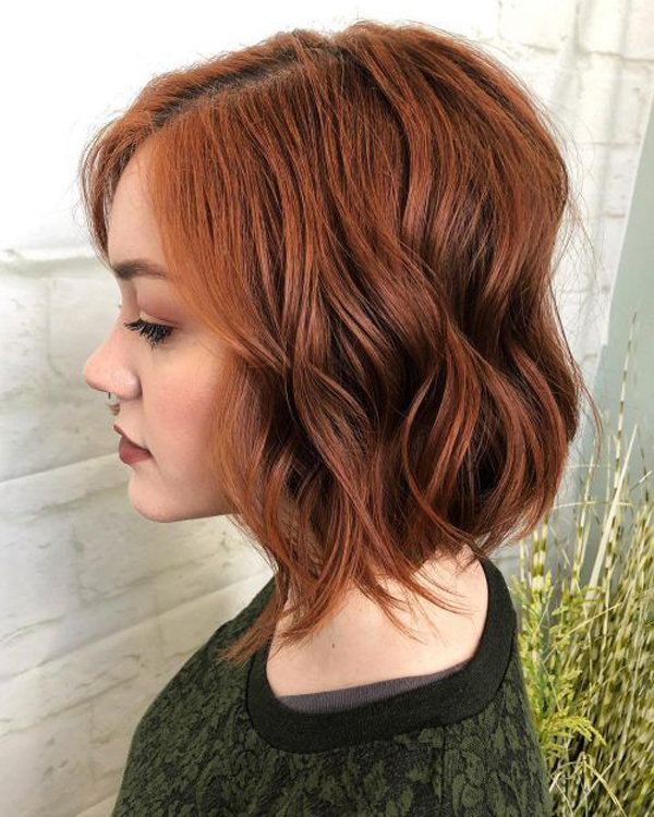Red Layered Bob Haircuts Trends 2019 Fashionlookstyle Com