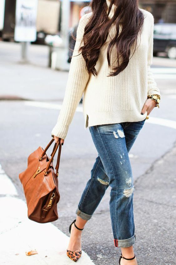 25 Trends To Add Your Style With Chunky Sweaters