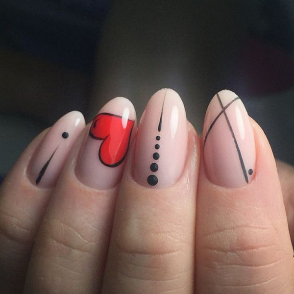 15 Pretty Pink Nail Arts To Valentine's Celebrate
