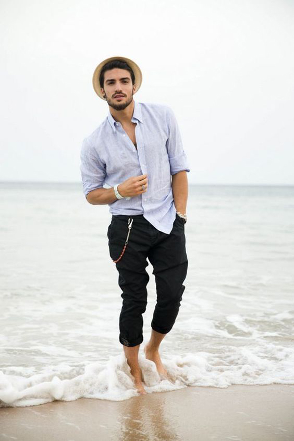 25 Simple And Trendy Beach Outfits For Mens
