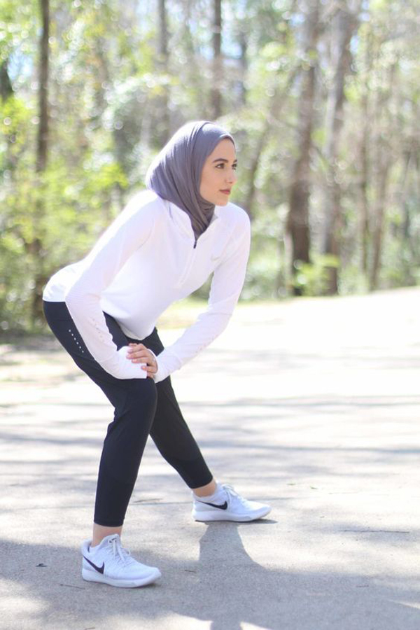 Lovely Hijab Outfits Sporty Look Fashionlookstyle Com