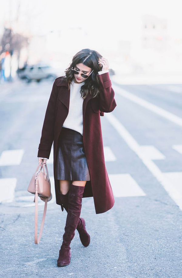 25 Classy Burgundy Ideas To Add In Your Work Outfits