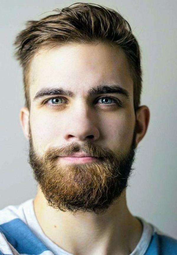 37 tidy and stylish short hairstyles with beards for men's
