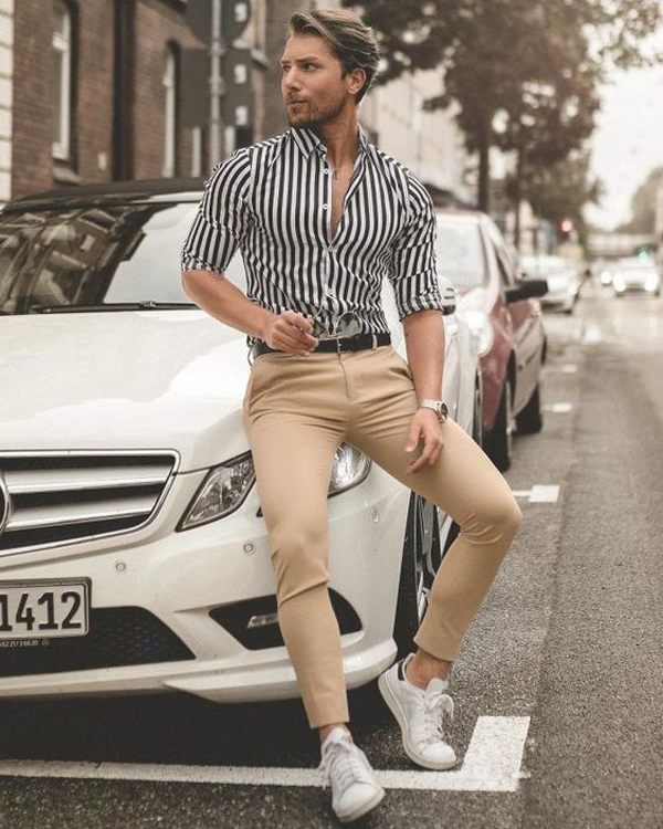 35 Formal And Casual Striped Outfits For Men Inspired