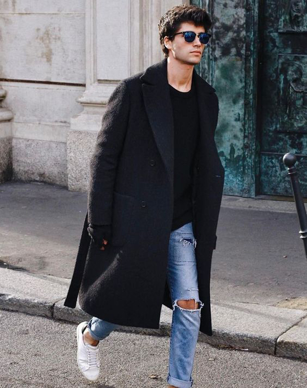 20 Oversized Men's Coat Outfits For This Fall
