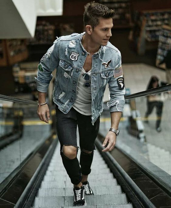 17 Funky Men's Outfits With Embroidered Denim Jackets
