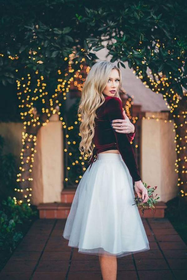 15 Best Christmas Party Outfits With Tulle Dress