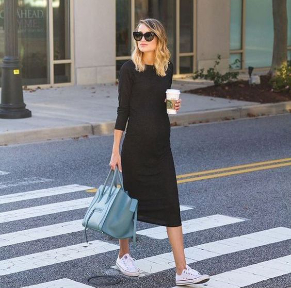 35 Stylish Street Style Fashion For Pregnant Women