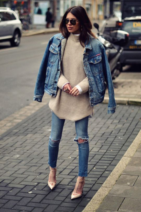 20 Casual Denim Jackets That Women Must Have For Winter