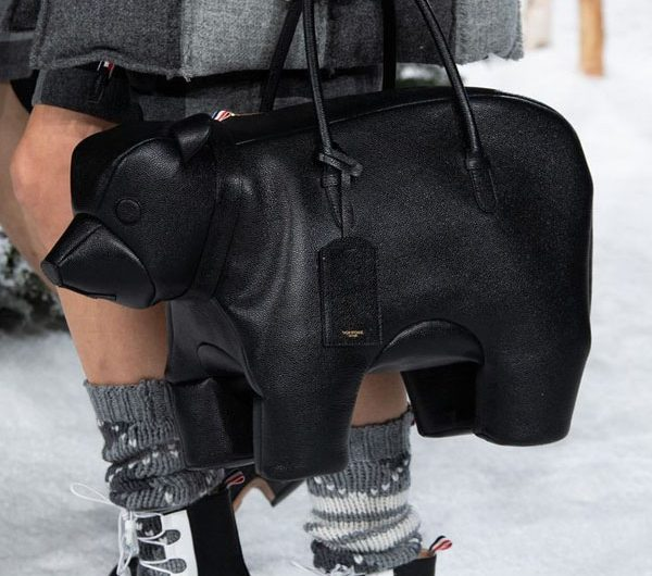 Animal Party At the Thom Browne Summer Bag Collection