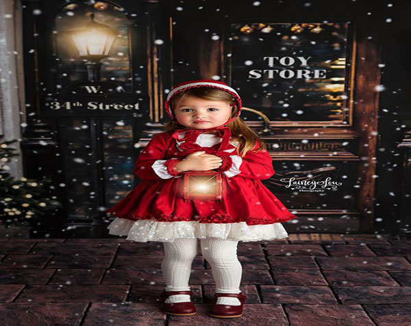 Sweet Dress for Your Daughter Celebrating Christmas